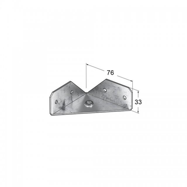 CORNER LEG BRACKET FOR BED FRAME / M8
